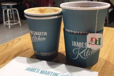James martin kitchen Glasgow airport food