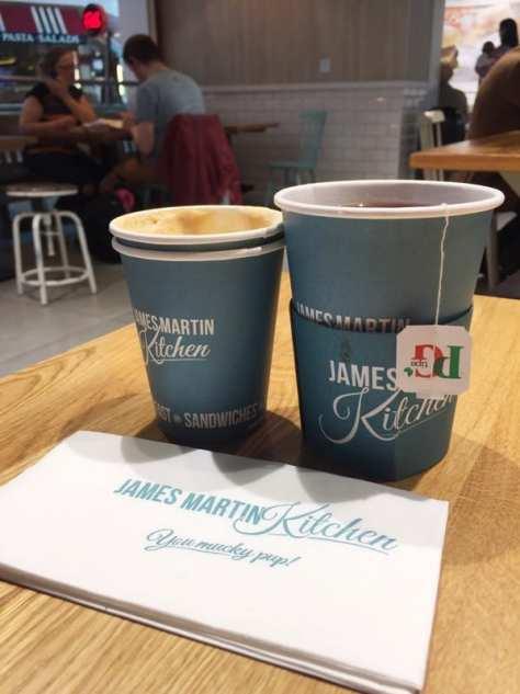James martin kitchen Glasgow airport food