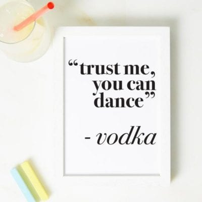 trust me you can dance print christmas