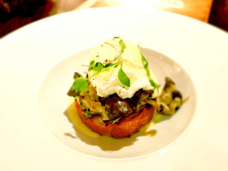 Boclair House - mushroom truffle egg brioche