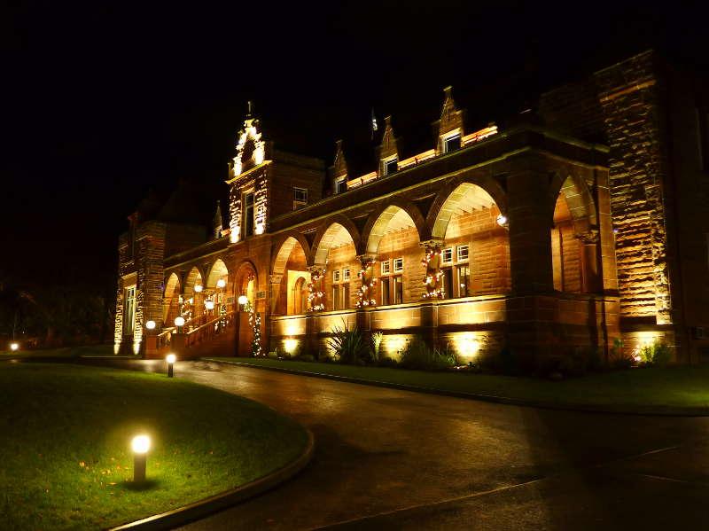 Boclair House - exterior at night
