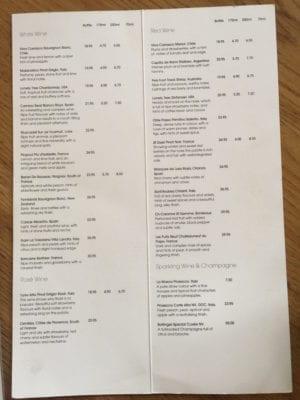 turnip and enjoy drinks menu