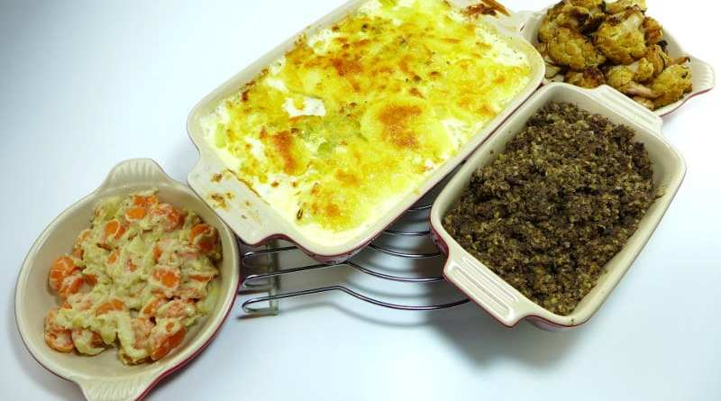 Dinner made with haggis