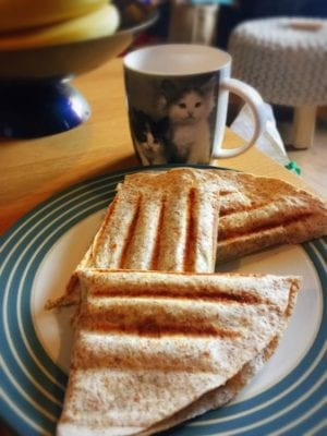 Panini grill peanut butter banana quesadilla recipe