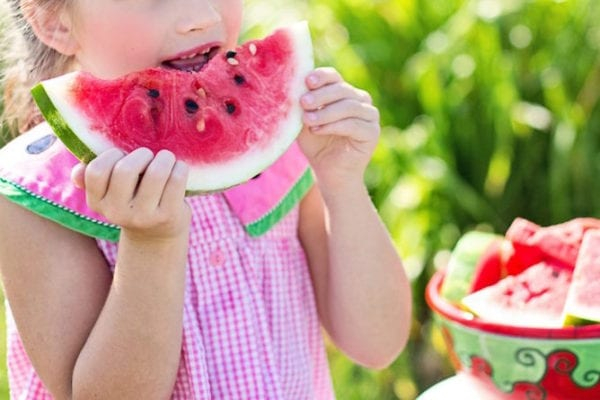 kid watermelon healthy food