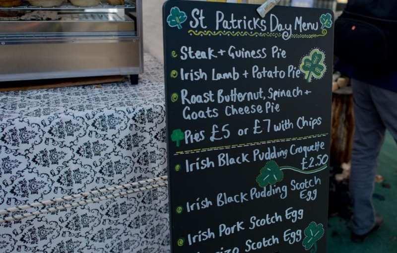 Event: Irish street food in London – Sunday 19 March 2017