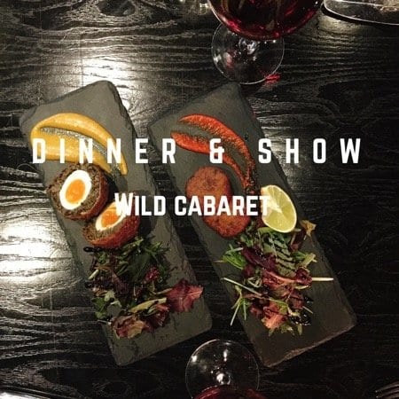 Dinner and a show at Wild Cabaret, Glasgow