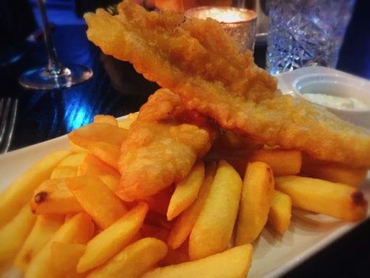 Fish and chips Wild cabaret glasgow