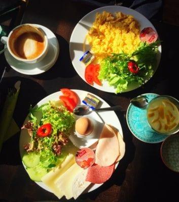 Glasgow food travel blog Berlin Cafe melon breakfast