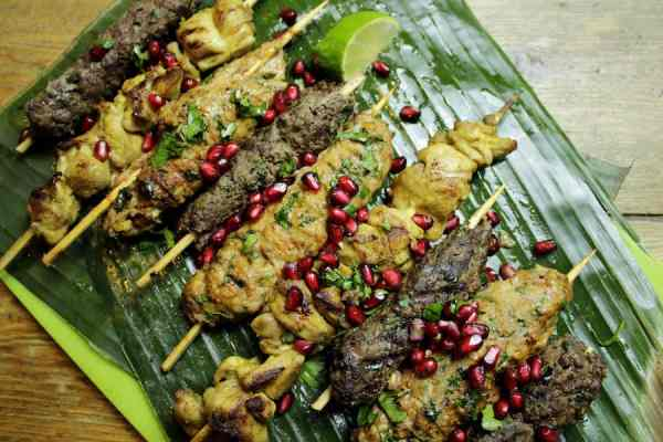 Mixed skewers paleo canteen delizique glasgow food blog foodie explorers