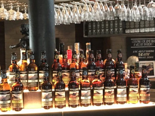 inveralmond beers in innis and gunn beer kitchen glasgow