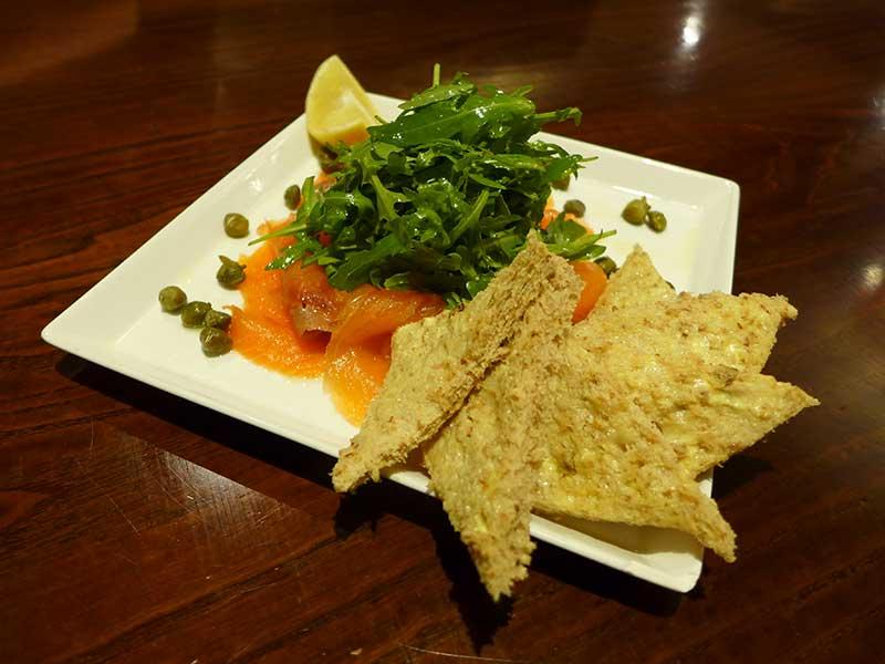 Scottish Smoked Salmon, Brown Bread & Capers