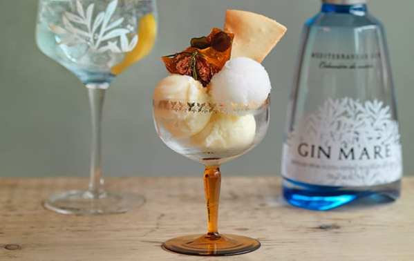 The hoxton shoreditch London gin mare ice cream pop up