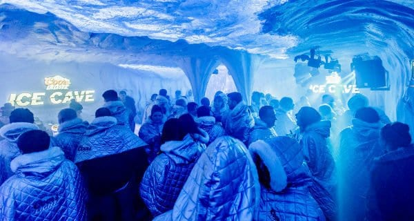 coors light ice cave glasgow