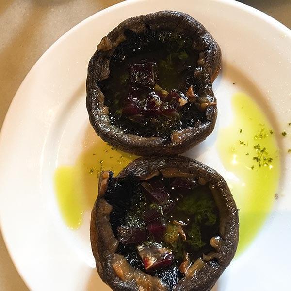 Casa Roman grilled filled mushrooms, Seville
