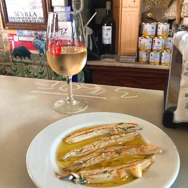 Las Teresas wine and fish, Seville
