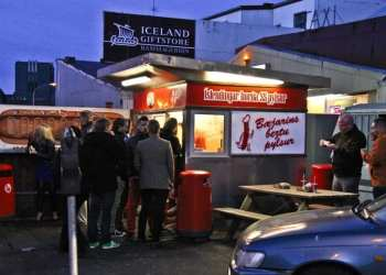 Iceland hot dog stand