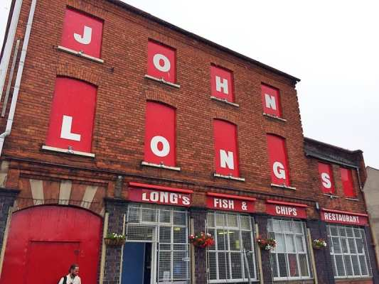 John longs fish and chip shop Belfast