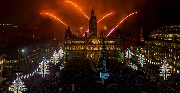 Glasgow life Christmas lights switch on glasgow