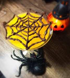 Spooky spider cobweb Halloween jelly