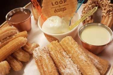 Loop and scoop ice cream churros Glasgow