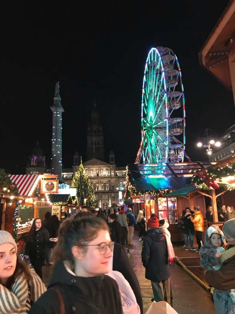 Glasgow Christmas markets George Square st Enoch square