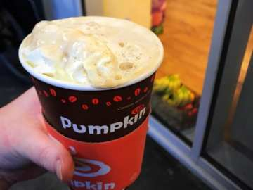 pumpkin cafe Edinburgh Christmas latte