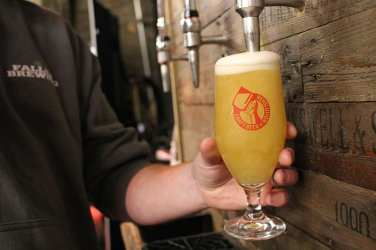 Craft Beer Revolution pouring a pint