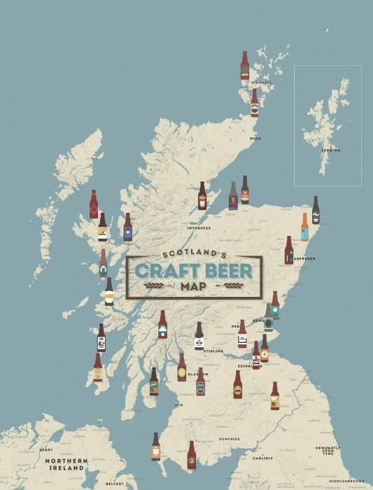 visit scotland food and drink beer map