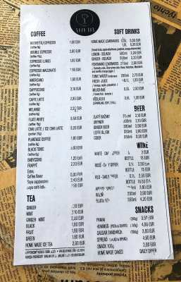 Kava Bar Bratislava coffee shop brunch menu