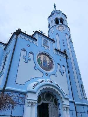 New Year Bratislava Blue Church