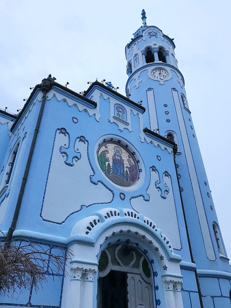New Year Bratislava Blue Church