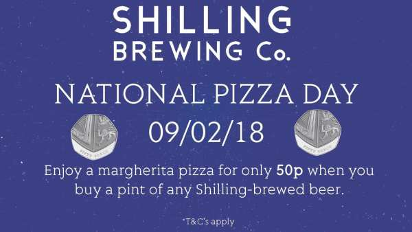 National Pizza Day Shilling Brewing Co Glasgow