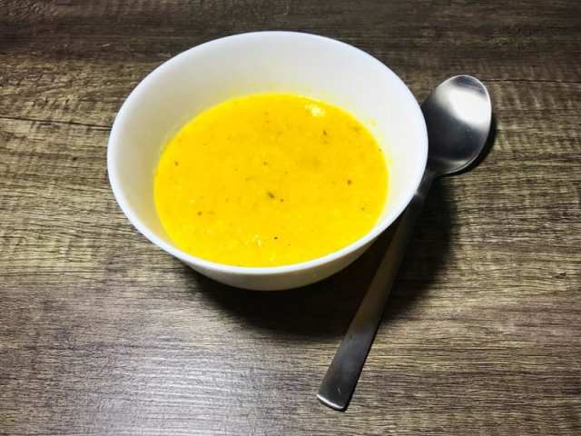 Roasted sweetcorn and yellow pepper soup recipe