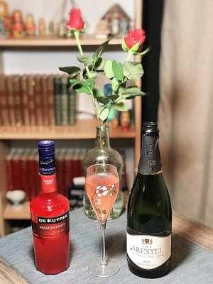 Passion fruit cava champagne cocktail
