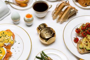 Gold-plated Marmite with breakfast