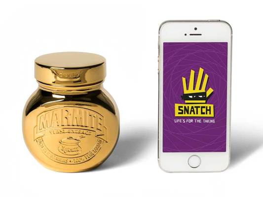 Gold-plated Marmite and Snatch app