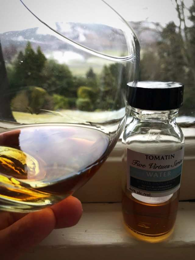 Tomatin 5 virtues water whisky