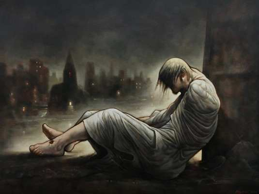 Homeless Jesus Peter Howson eusebi glasgow