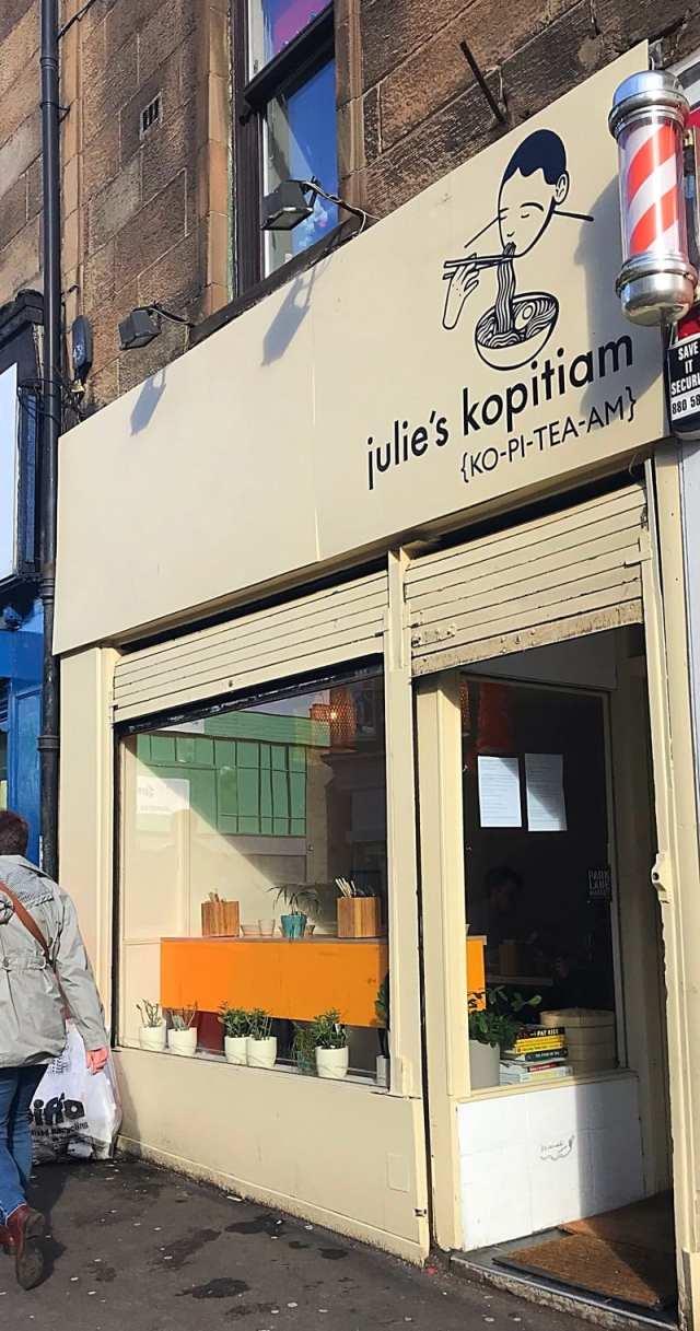 Julie's Kopitiam glasgow