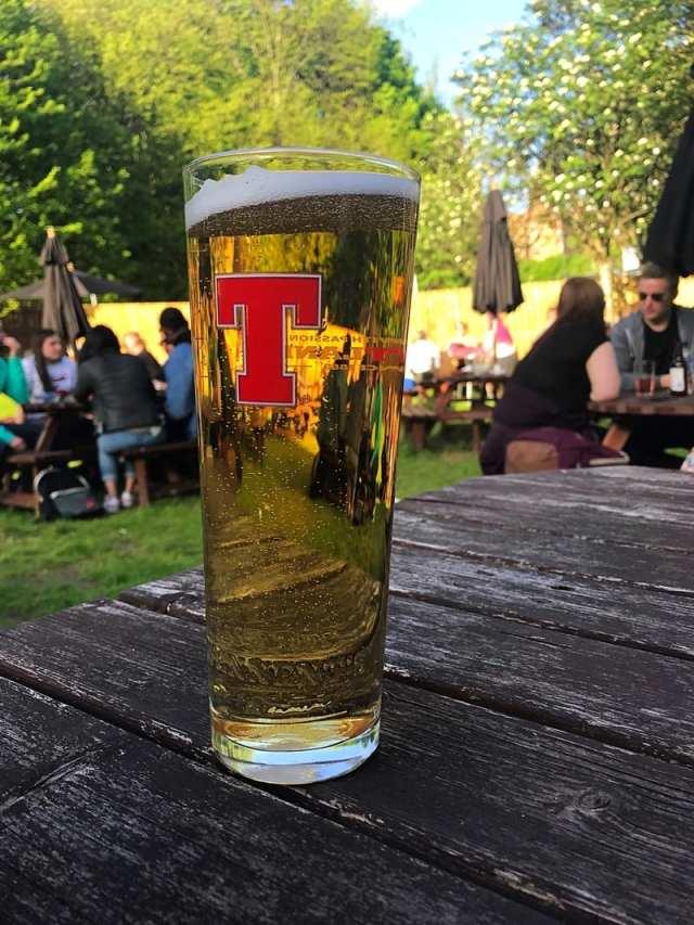 Tennents Lager glasgow beer garden taps aff