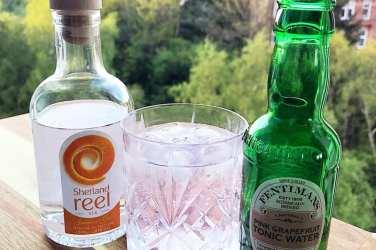 Shetland reel gin Scottish
