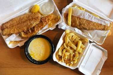 Catch posh fish and chips Netherlee Glasgow foodie explorers