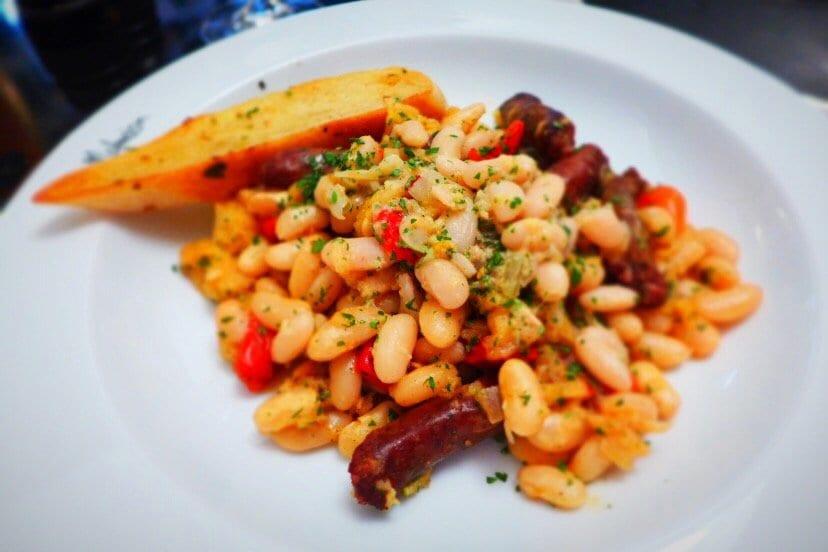 Glasgow Malmaison Summer Menu stew of grilled Merguez sausages