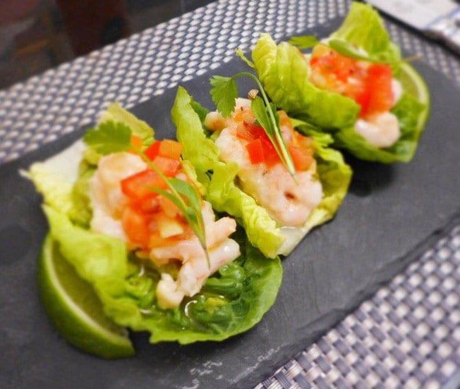 chez mal malmaison glasgow summer menu prawn cocktail lettuce tacos