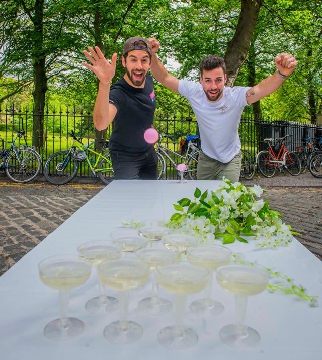 Edinburgh Food Festival Prosecco pong