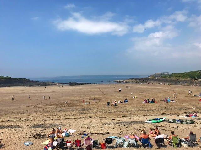 Pembrokeshire coast Wales beach