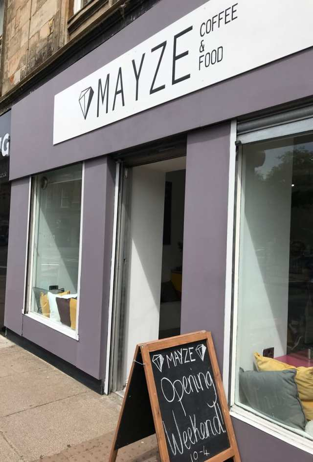 Mayze brunch cafe Finnieston Glasgow