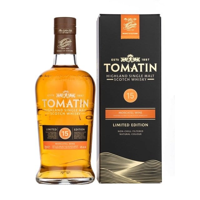 Tomatin moscatel single malt whisky
