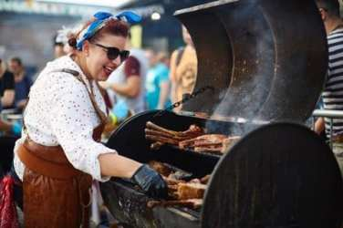 Craftopia meatopia London tobacco dock beer Melissa Cole